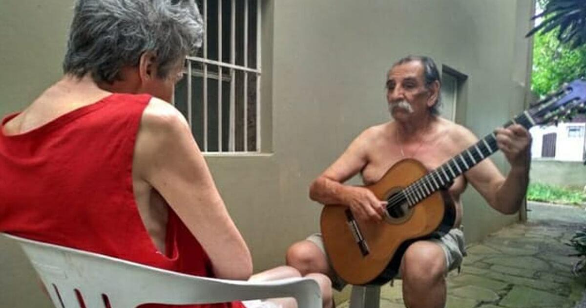 Lucio Sueli4 - Marido faz serenata todos os dias para mulher que enfrenta o Alzheimer