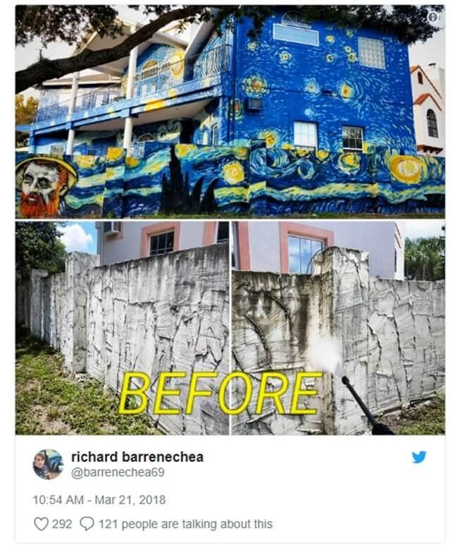 van - Pais pintam a casa em 'estilo' Van Gogh para filho autista não se perder!